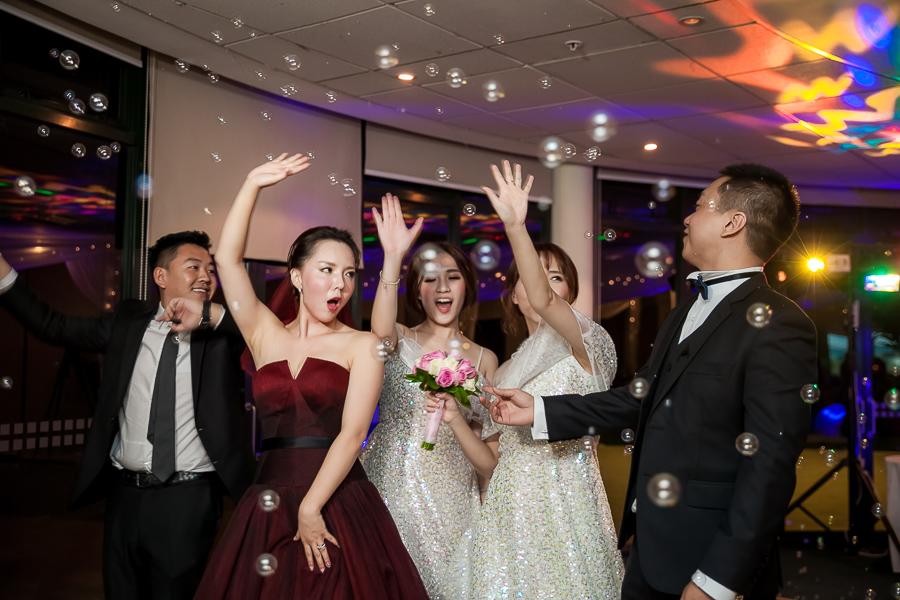 Bride and groom-reception
