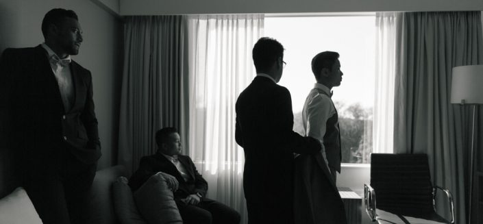 groom and groomsman