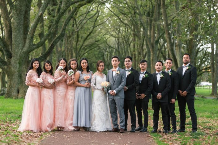 bridal-party at the one three hill