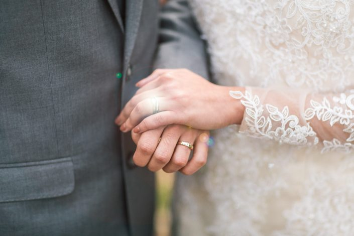 wedding rings with light
