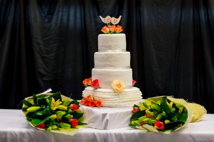 white wedding four levels cake
