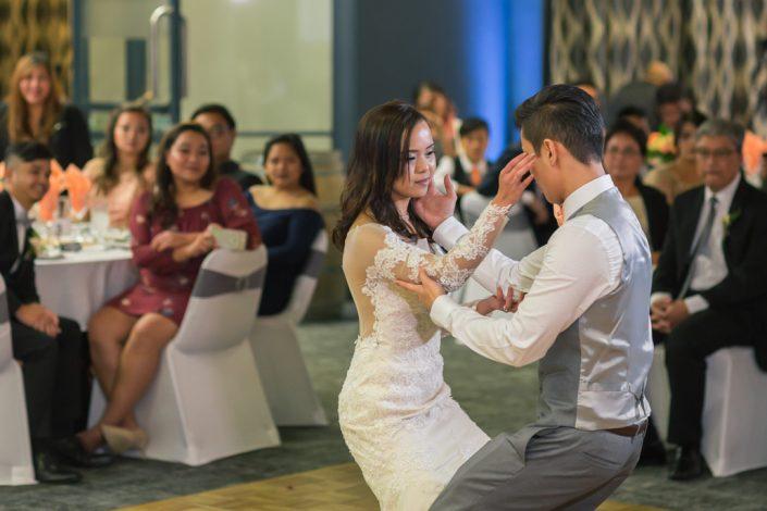 couples first dance at Ellerslie Event Centre